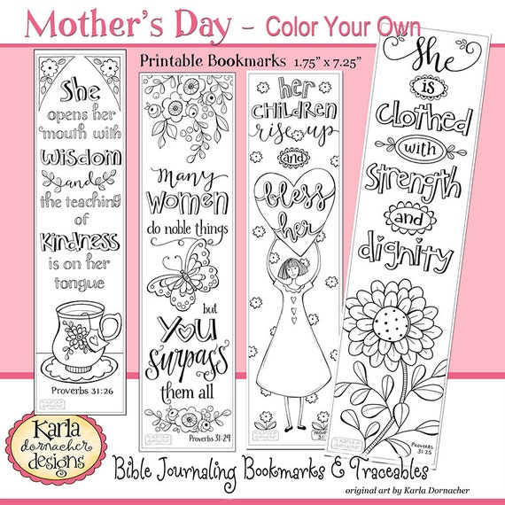 A Godly Woman, PROVERBS 31, Color Your Own, Bible Bookmarks, Bible  Journaling Instant Download Scripture Digital Printable Christian
