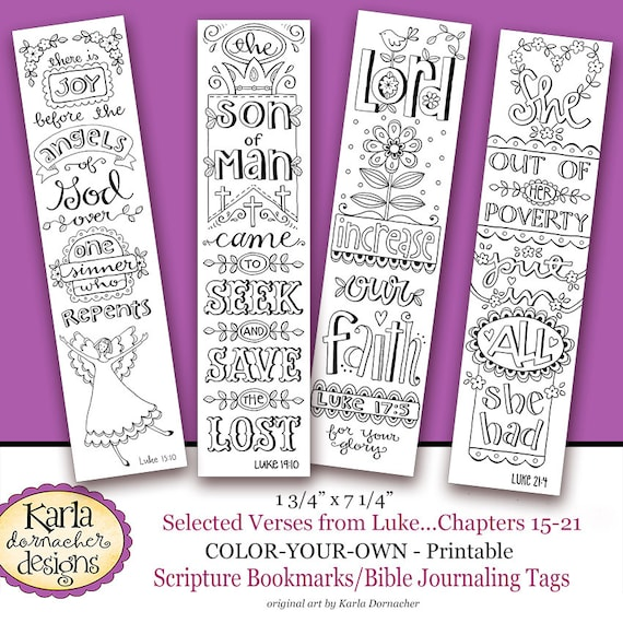 Luke 15 21 Color Your Own Bookmarks Bible Journaling