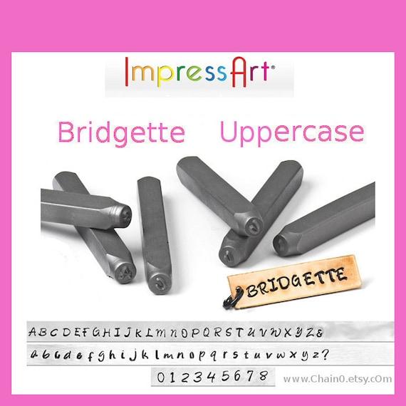 Bridgette Uppercase Letter Alphabet Metal Stamps Font 3mm 18 Etsy