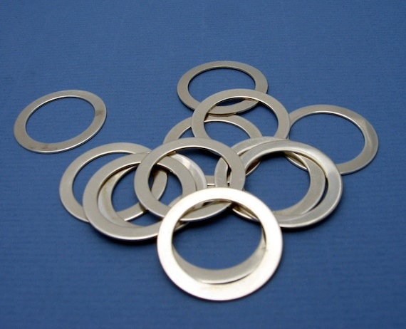 Sterling Silver Washer Hand Stamping Blank Open Circle