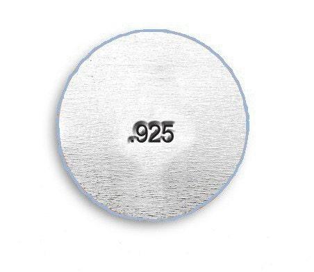 925 Hallmark STAMP Jewelry Design 15mm Steel Punch Marking Metal Jewellery Making Sterling Silver