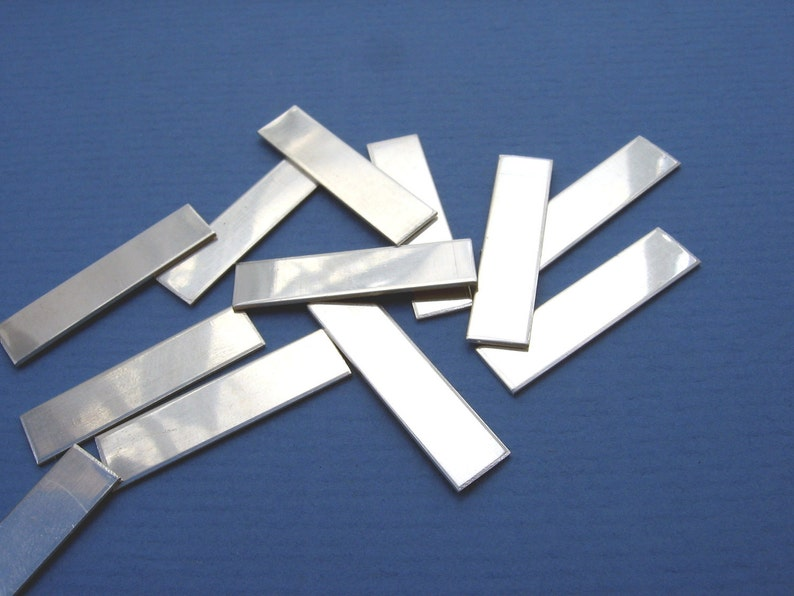 Sterling Silver Pendant Stamping Blanks Sheet Metal Jewelry image 0