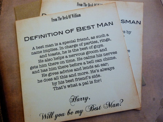will you be my best man invitation vintage inspired classic etsy