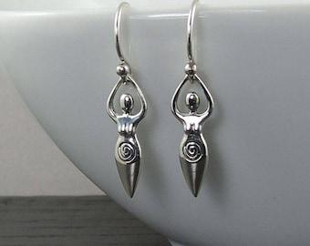 Moon Goddess Earrings - fertility gifts, goddess earrings, fertility earrings, goddess, wiccan jewelry, wiccan earrings