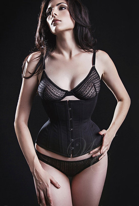 "Tightlacing 4 6"" Réduction Prêt De 18"" à L'expédition, Corset Underbust Trainer Noir by Etsy"