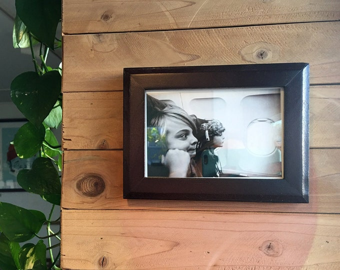 4x6 Picture Frame in 1x1 Outside Cove Style with Solid Dark Wood Tone Finish - Holiday Gift IN STOCK - Same Day Shipping - 4 x 6 Photo Frame