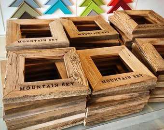 Personalized Frames - Choose Your Size and Message - Reclaimed Rustic Natural Cedar - Sizes 4x4, 4x6, 5x5, 5x7, 8x10 - WHOLESALE OPTIONS
