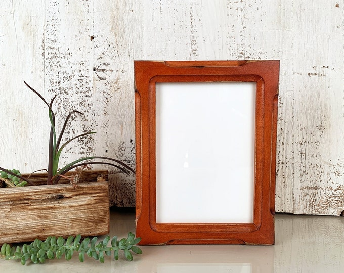 """5x7"""" Picture Frame in Shallow Bones Style with Vintage Wood Tone Finish - IN STOCK - Same Day Shipping - 5 x 7 Photo Frame Brown"""