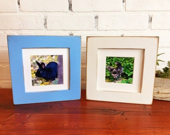 6x6 inch Square Picture Frame in 1.5-inch standard style and Color OF YOUR CHOICE - Rustic Handmade 6x6 Photo Frame