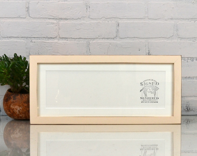 Panoramic Picture Frame in 1x1 Flat Style and Vintage Color of Your Choice - Select Your Size 2x6, 5x15, 6x12, 6x18, 6x24 + more up to 9x40