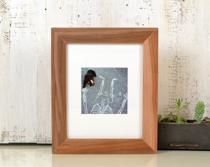 """8x10 Picture Frame in 1.5"""" wide Style Solid Natural WILLOW Wood - IN STOCK - Same Day Shipping - 8 x 10"""" Photo Frame"""
