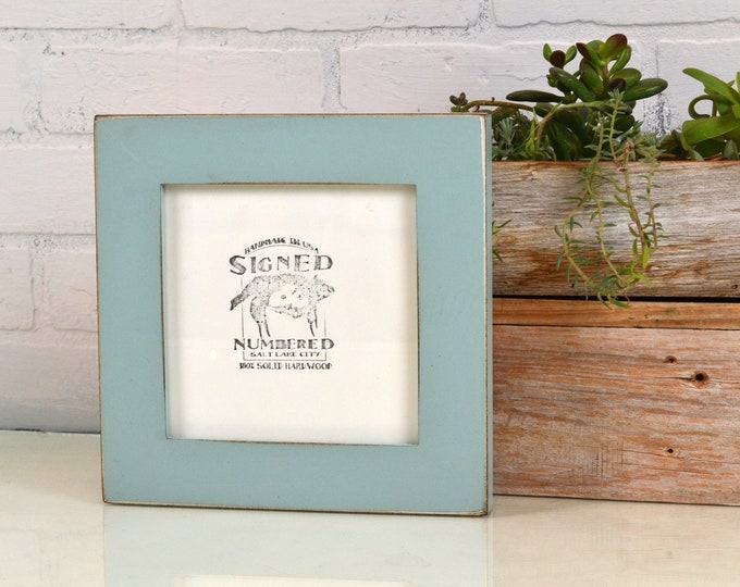 6x6 Picture Frame in 1.5 Standard Style with Vintage Homestead Green Finish - IN STOCK - Same Day Shipping - Romantic Frame - Wedding Gift