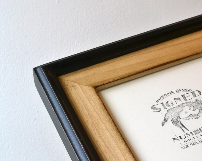 Vintage Color of Your Choice in Black Build Up Style - Choose your small frame size 3x3, 2x6, 3.5x5, 4x5, 4x6, 5x7, 5x5, 6x6, 6x8, 7x7, 4x10