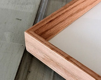 "Natural Solid Oak Frame in Park Slope style - Choose your frame size: 3x3 up to A3 (11.7x16.5"") - Solid Hardwood Oak Frames"