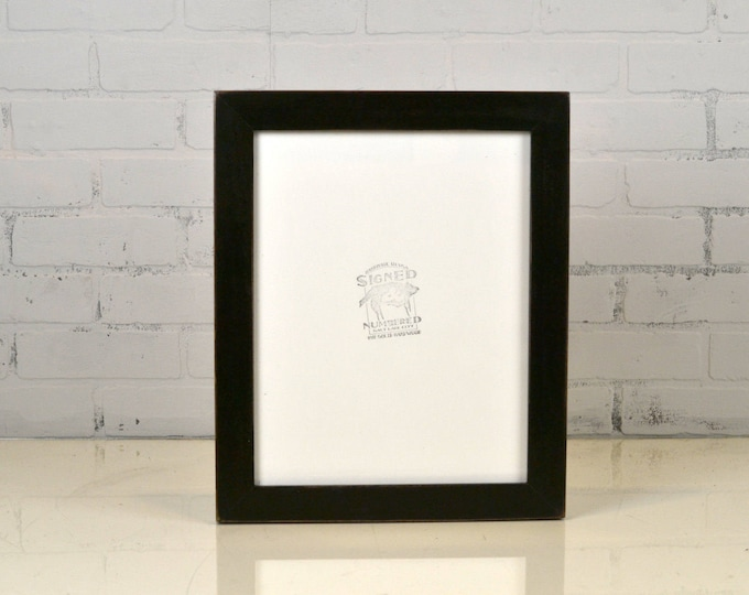 """Handmade 11x14"""" Picture Frame in 1.5 inch standard style with Vintage Black Finish - IN STOCK - Same Day Shipping Black Photo Frame"""