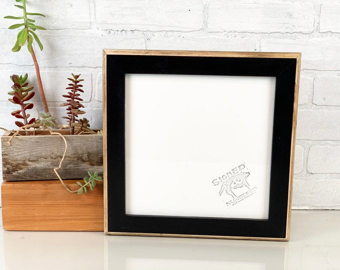 "10x10"" Picture Frame in Rustic 2-Tone Style with Vintage Black Finish - IN STOCK - Same Say Shipping - Handmade 10x10 Photo Frame"