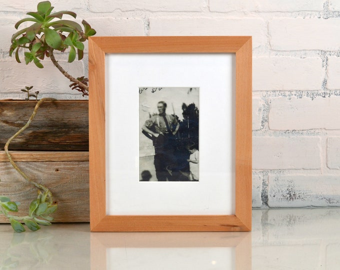 8x10 Picture Frame in Natural ALDER 1x1 Flat Style - IN STOCK - Same Day Shipping - 8 x 10 Photo Frame Solid Hardwood Free Shipping