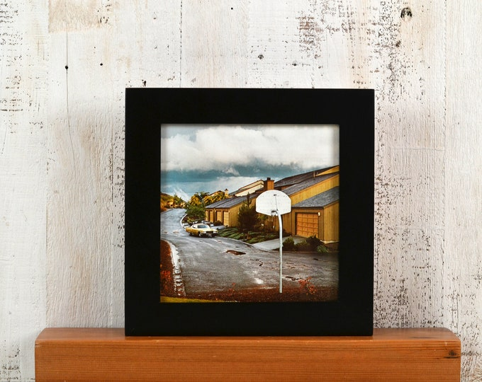 8x8 Square Picture Frame in 1.5 Standard Style with Solid Black Finish - IN STOCK Same Day Shipping - 8 x 8 Photo Frame