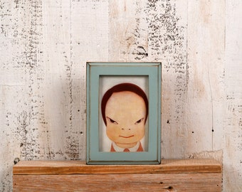 4x6 Picture Frame in 1x1 Outside Cove Style with Vintage Homestead Green Finish - Gift IN STOCK - Same Day Shipping - 4 x 6 Photo Frame
