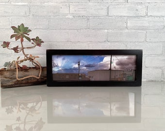 "5x15"" Picture Frame in 1x1 Flat Style with Vintage Black Finish - IN STOCK - Same Day Shipping - 15 x 5 Panoramic Photo Frame"