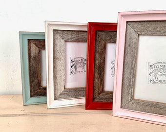 Vintage Color of Your Choice in Rustic Cedar Foxy Cove Build Up Choose your frame size 2x2 up to 16x20 inches - Reclaimed Wood Frame