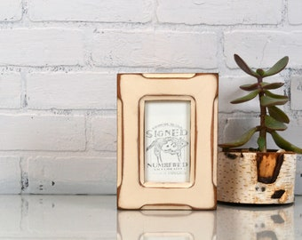 3x5 Picture Frame in Wide Bones Standard Style with Super Vintage Ivory Finish - IN STOCK - Same Day Shipping - SALE 4 x 6 Photo Frame