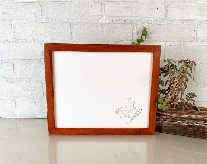 """9x11 Picture Frame Peewee Style with Vintage Wood Tone Finish - IN STOCK - Same Day Shipping - Rustic Frame 9 x 11"""""""
