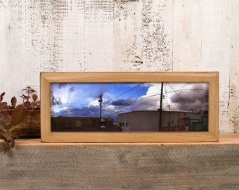 Panoramic Picture Frame in 1x1 Flat Style and Vintage Color of Your Choice - Select Your Size 2x6, 5x15, 6x12, 6x18 and more
