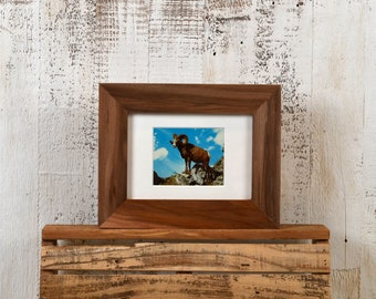 """5x7"""" Picture Frame in 1.5"""" wide Style Solid Natural Willow Wood - IN STOCK - Same Day Shipping - 5 x 7 Photo Frame"""