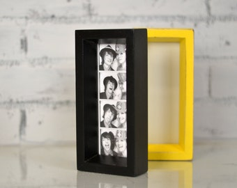 """Photo Booth Frame 2 x 6 for Picture Strip in Park Slope Style and in COLOR of YOUR CHOICE - 2x6"""" Wedding Photo Booth Frame - Wedding Favor"""