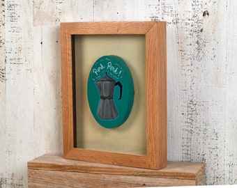 "Shadow Box Frame - Holds up to 8.5 x 11 x 1"" deep - with Solid Natural Oak Finish - IN STOCK - Same Day Shipping - Shadowbox Frame"