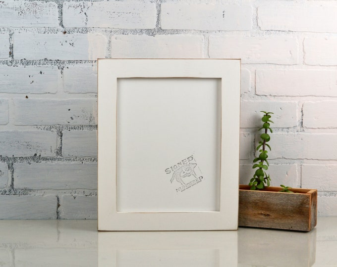 8.5 x 11 Picture Frame in 1.5 Standard Style with Vintage White Finish - IN STOCK Same Day Shipping - 8.5x11 White Picture Frame