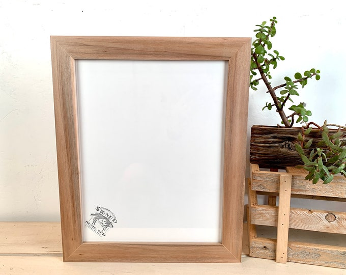 """11x14"""" Picture Frame - SHIPS TODAY - 1.5 inch Standard style in Solid Natural Willow - In Stock - Same Day Shipping Willow Anniversary Gift"""