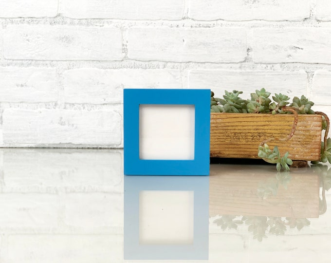 """3x3"""" Square Picture Frame in Peewee style with Solid Cobalt Blue Finish - IN STOCK - Same Day Shipping - 3x3 Photo Frame"""