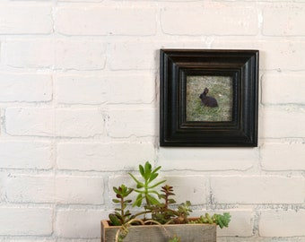 4x4 Picture Frame in Mulder Style with Vintage Black Finish - IN STOCK - Same Day Shipping - 4 x 4 Square Photo Frame