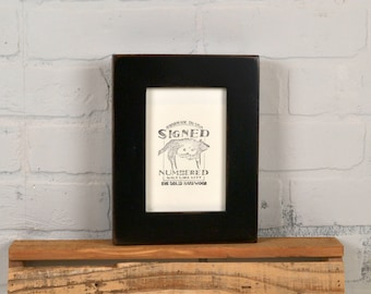 """4x6 Picture Frame in 1.5"""" Standard Style with Vintage Black Finish - IN STOCK - Same Day Shipping - SALE 4 x 6 Photo Frame Rustic Black"""
