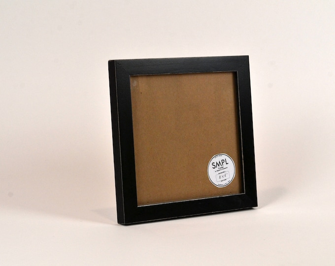 SMPL Line Picture Frame in Black - Choose Your Frame Size: 2x3, 3x3 up to 11x14, 11.7x16.5 inches A3 Size - FREE SHIPPING - Standard Frames