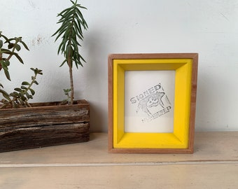 "4x5"" Picture Frame in Park Slope Plus Style with Solid Yellow Finish - IN STOCK - Same Day Shipping - Handmade 4 x 5 inch Solid Wood Frame"