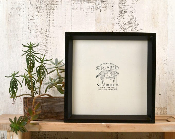 8x8 Square Picture Frame with Solid Black Finish in Park Slope Style - IN STOCK - Same Day Shipping - 8 x 8 Photo Frame Black