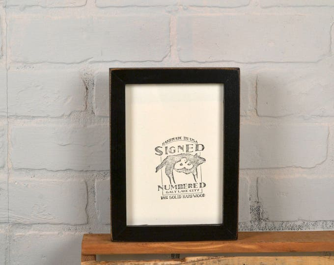 5x7 Picture Frame in Deep Flat Style with Vintage Black Finish - IN STOCK - Same Day Shipping - 5 x 7 Frame Rustic Black