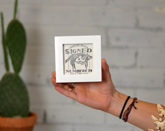 """3x3"""" Square Picture Frame in Peewee style and Solid White Finish - Can Be Any Color - Modern 3x3 Photo Frame"""