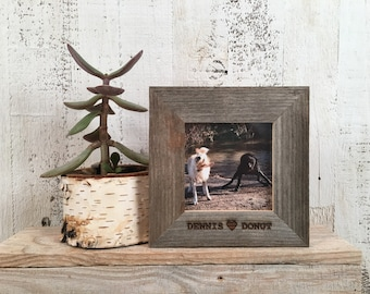 Personalized Frames - Choose Your Size and Message - Reclaimed Rustic Natural Cedar - Sizes 4x4, 4x6, 5x5, 5x7, 8x10 - PORTRAIT OR LANDSCAPE