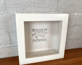 """6x6 Shadow Box Frame with Solid White Finish Holds up to 1.5"""" deep - IN STOCK - Same Day Shipping - 6x6 Shadowbox Frames"""