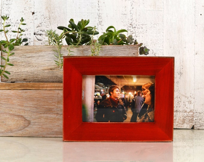 "4x6 Picture Frame in 1.5"" Standard Style with Vintage Red Dye Finish - IN STOCK - Same Day Shipping - SALE 4 x 6 Photo Frame Rustic"