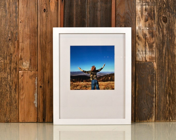 A4 Size Picture Frame in Peewee Style in Finish Color of Your Choice - 210 x 297 mm - A4 Frame - 8.3 x 11.7 inches - Shown in Solid White