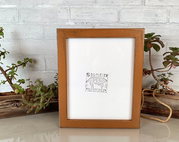 8x10 Picture Frame in 1x1 Flat Style with Vintage Roman Gold Finish - IN STOCK - Same Day Shipping - Rustic Solid Wood Frame 8 x 10