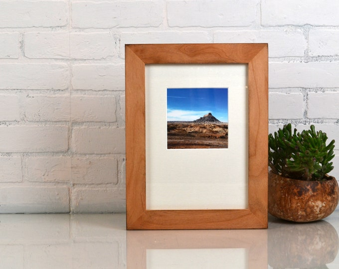 A4 Size Picture Frame in 1.5 Standard Style on Alder with Burnished Natural Finish - IN STOCK Same Day Shipping - 210 x 297 mm - 8.3 x 11.7""
