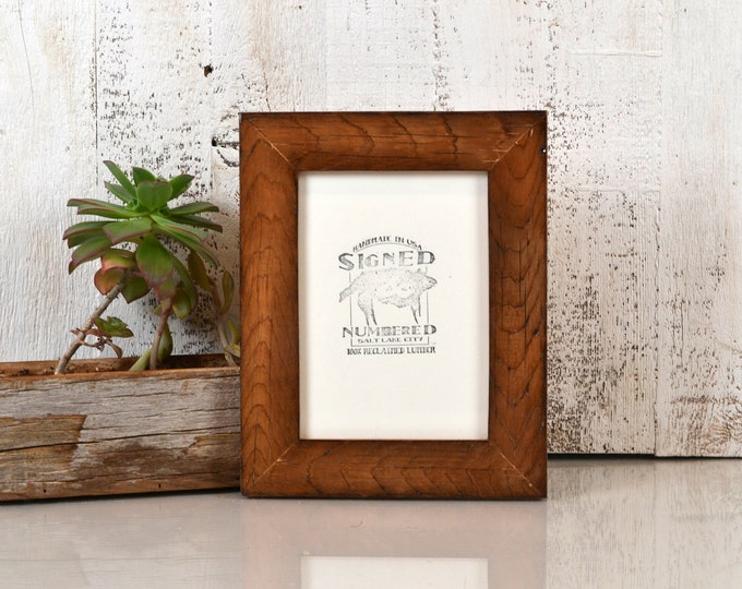 5x7 Picture Frame in Reclaimed Cedar Wood with Burnished Natural Finish - IN STOCK Same Day Shipping - Upcycled Wood Frame 5 x 7
