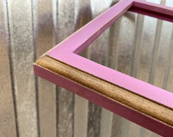 Vintage Color of Your Choice in 1x1 2-Tone Style - Choose your frame size: 2x2 up to 18x24 inches - Solid Hardwood Frames