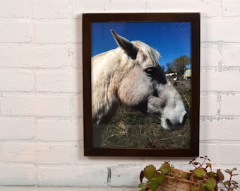 """11x14"""" Picture Frame in 1x1 Flat Style with Vintage Dark Wood Tone Finish - IN STOCK - Same Day Shipping - Handmade 11 x 14 Solid Hardwood"""